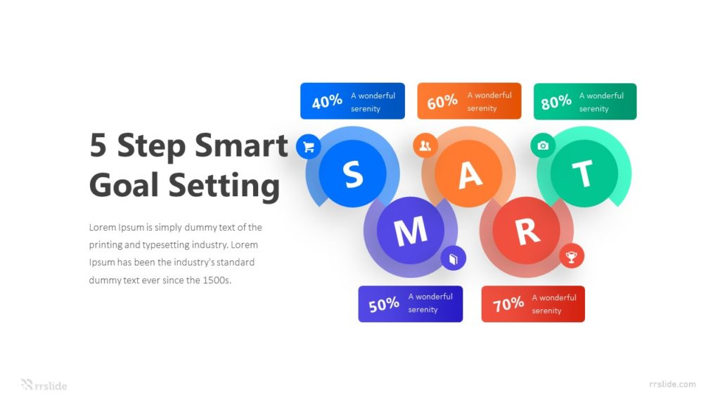 5 Step Smart Goal Setting Infographic Template