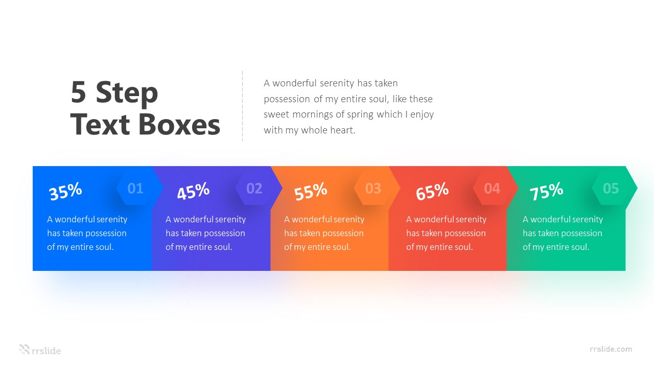 5 Step Text Boxes Infographic Template