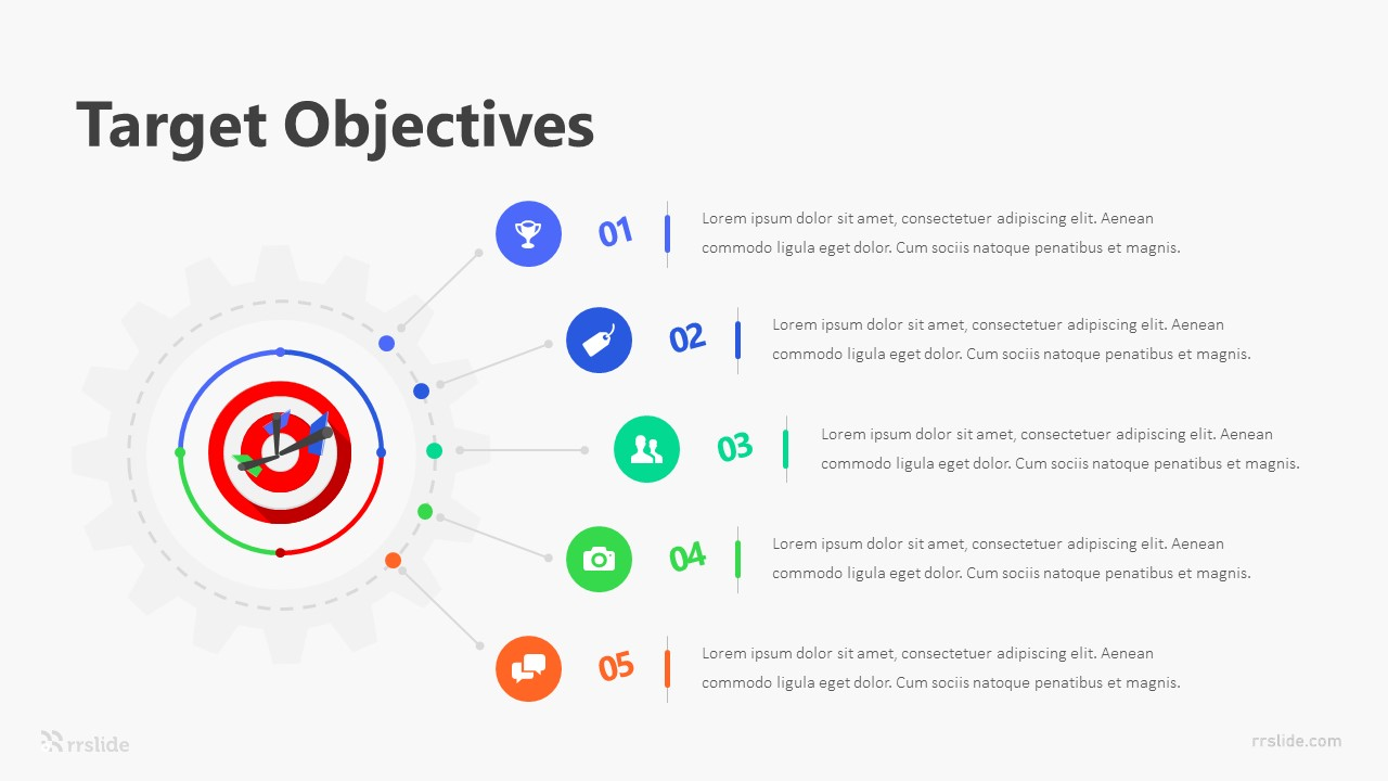 5 Target Objectives Infographic Template