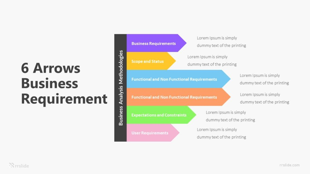 6 Arrows Business Requirement Infographic Template