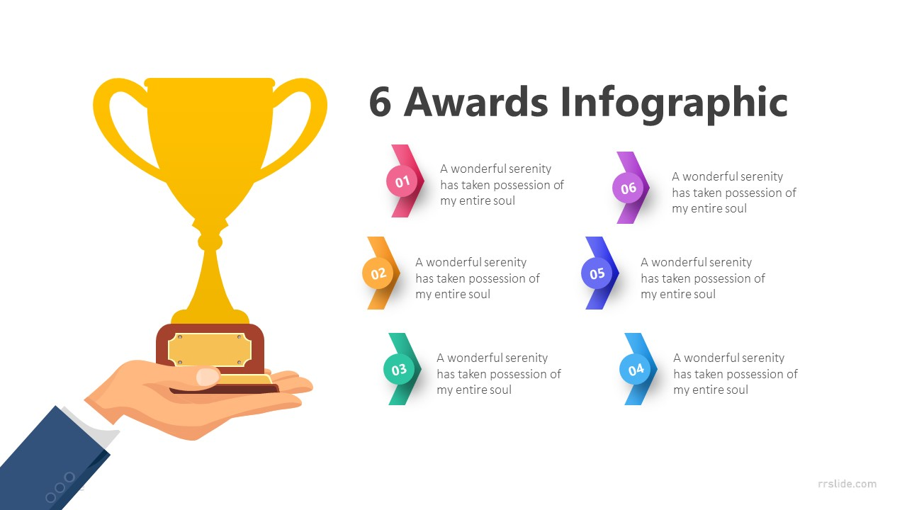 6 Awards Infographic Template