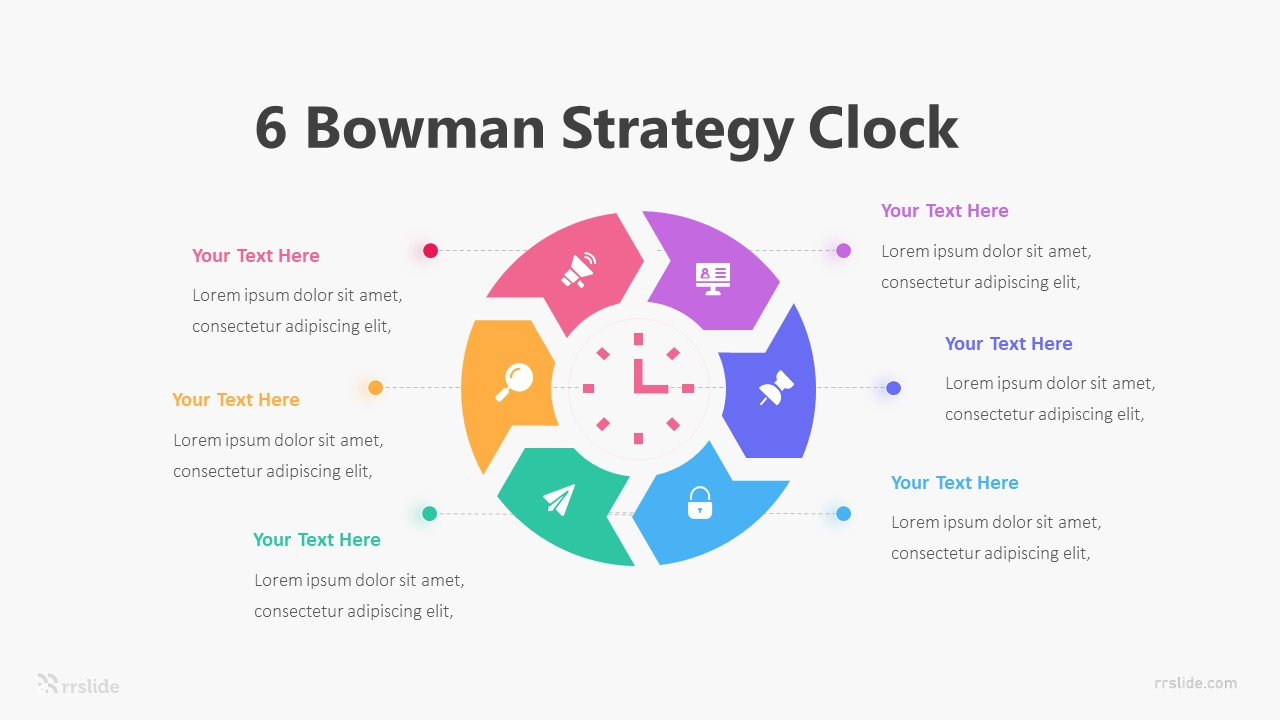 6 Bowman Strategy Clock Infographic Template