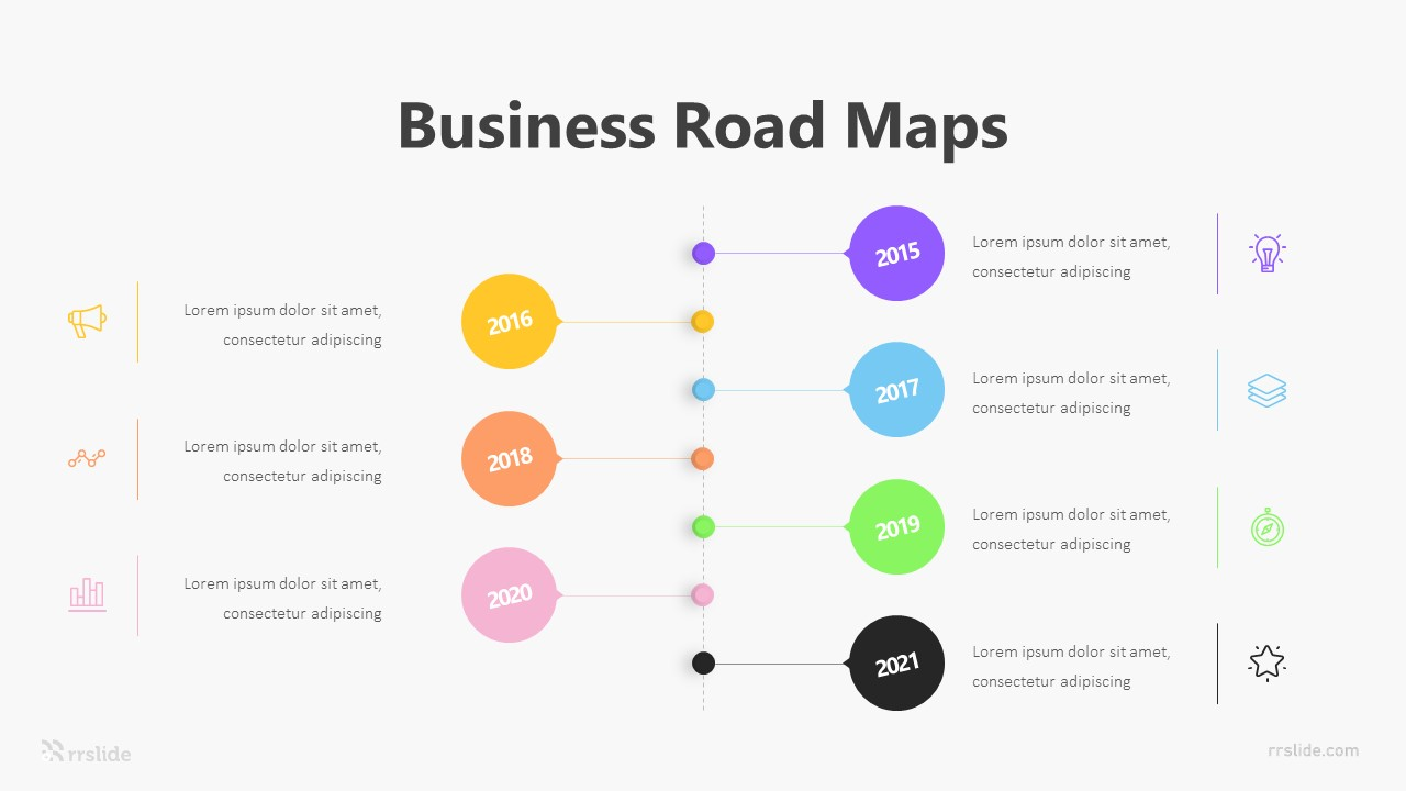 6 Business Road Maps Infographic Template