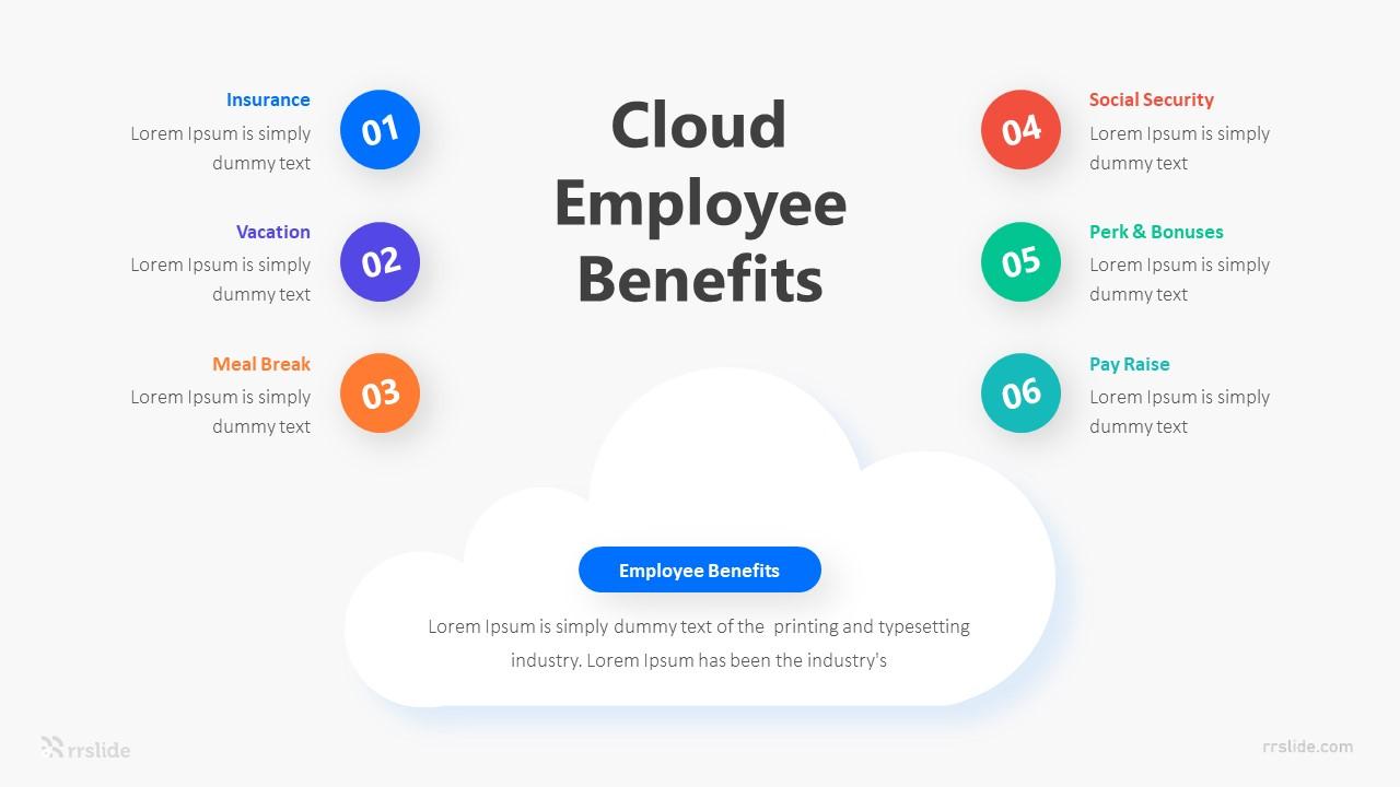 6 Cloud Employee Benefits Infographic Template