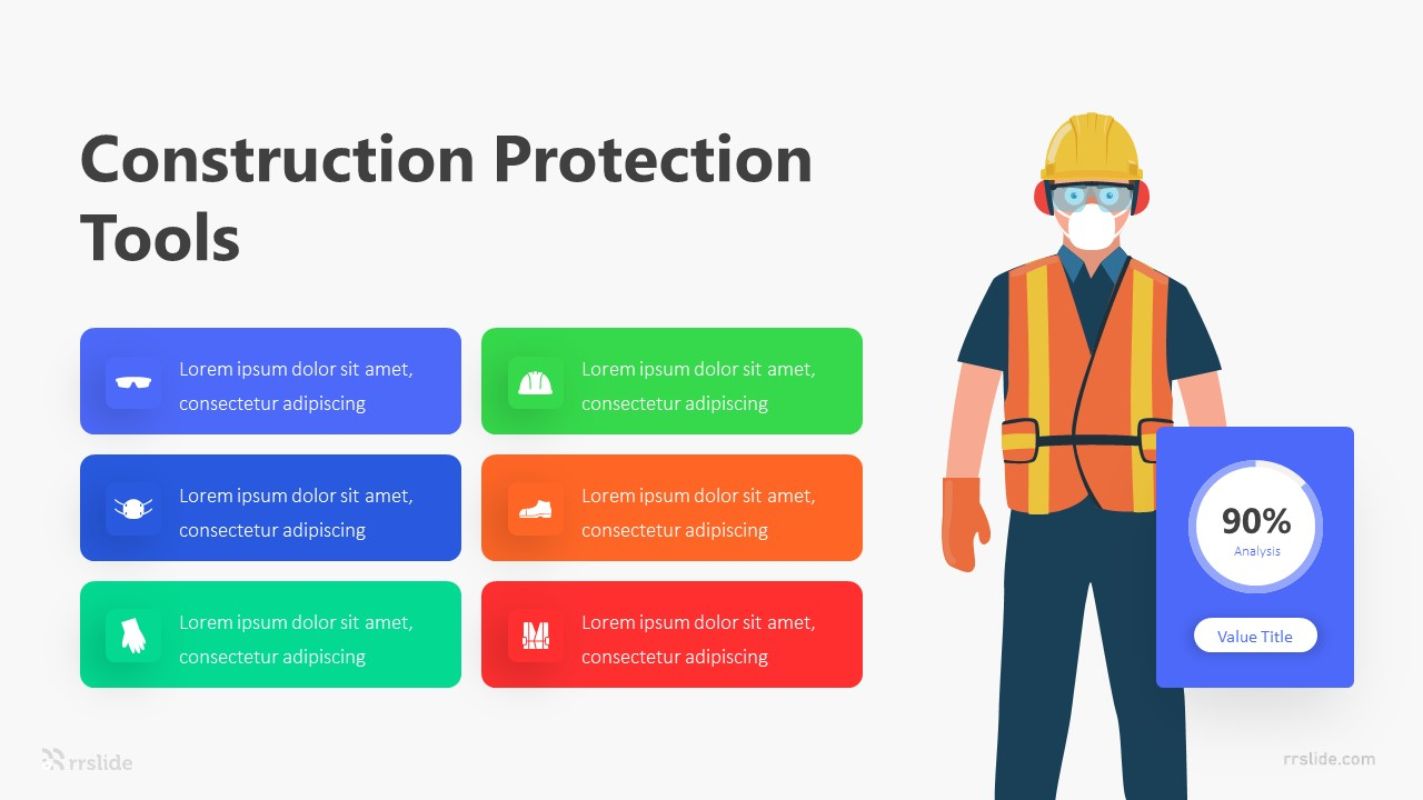6 Construction Protection Tools Infographic Template