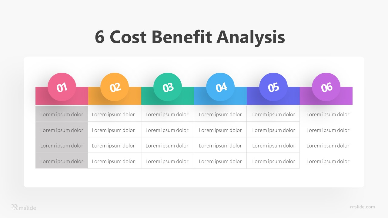 6 Cost Benefit Analysis Infographic Template