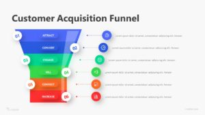 6 Customer Acquisition Funnel Infographic Template