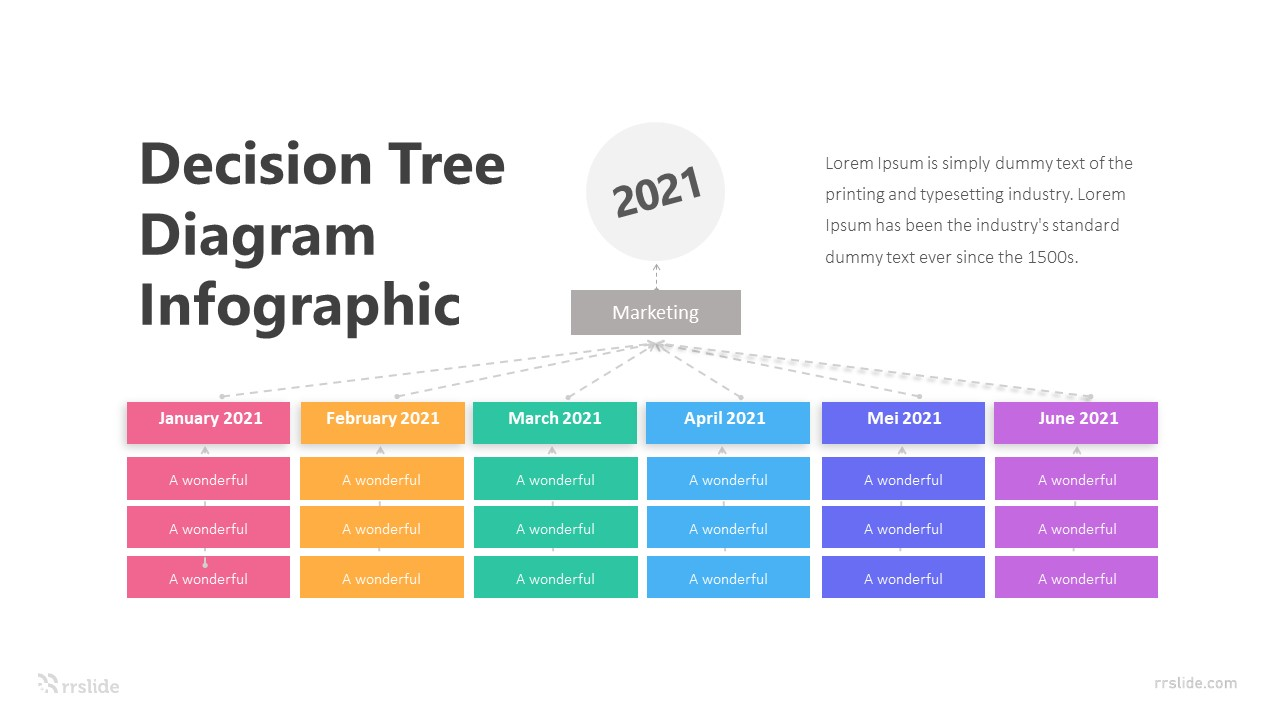 6 Decision Tree Diagram Infographic Template