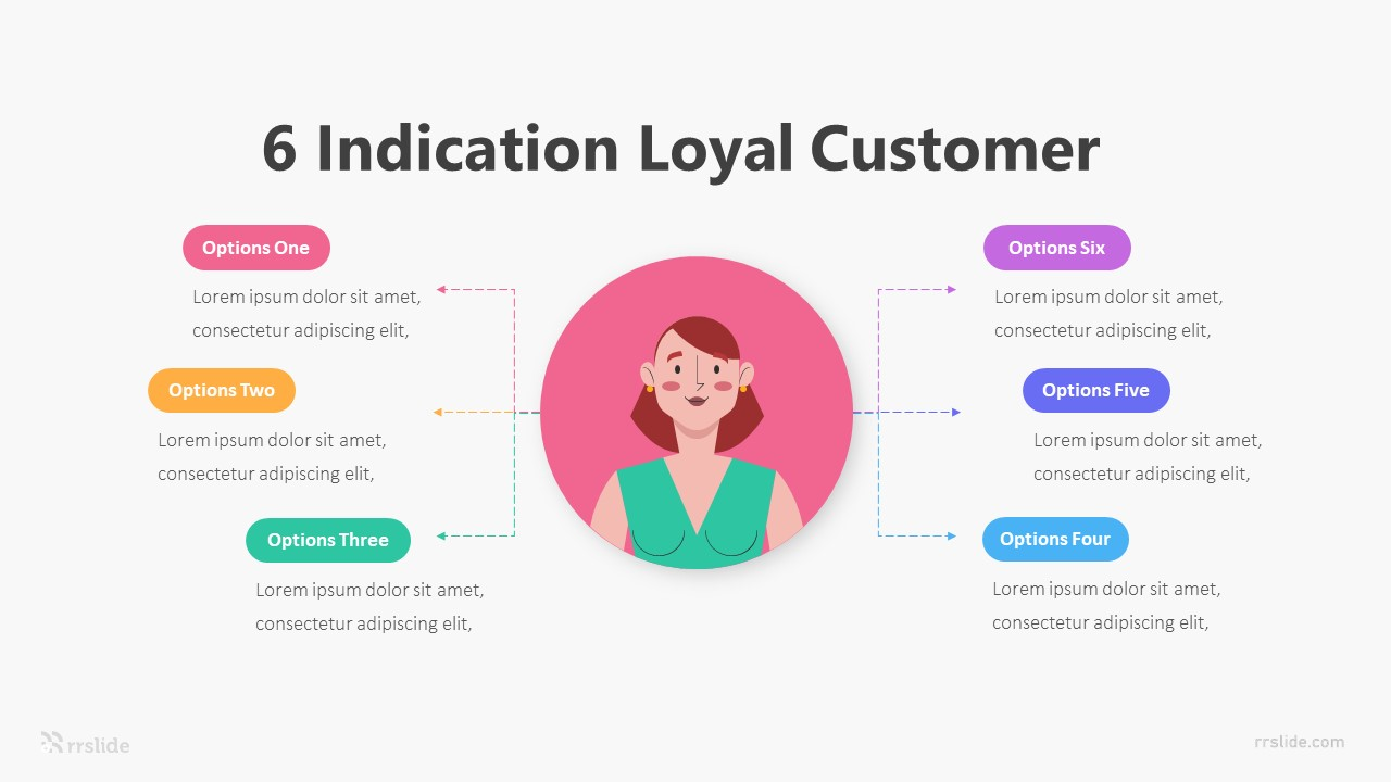 6 Indication Loyal Customer Infographic Template