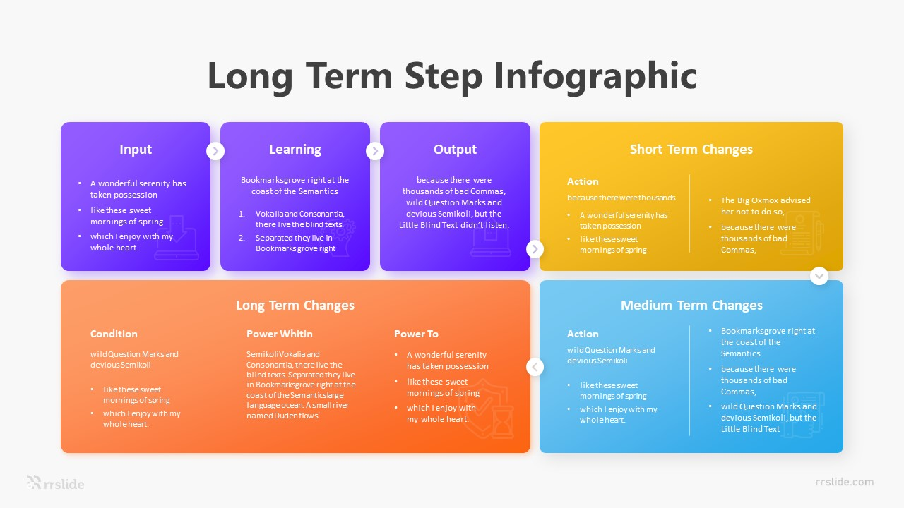 6 Long Term Step Infographic Template