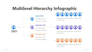 6 Multilevel Hierarchy Infographic Template