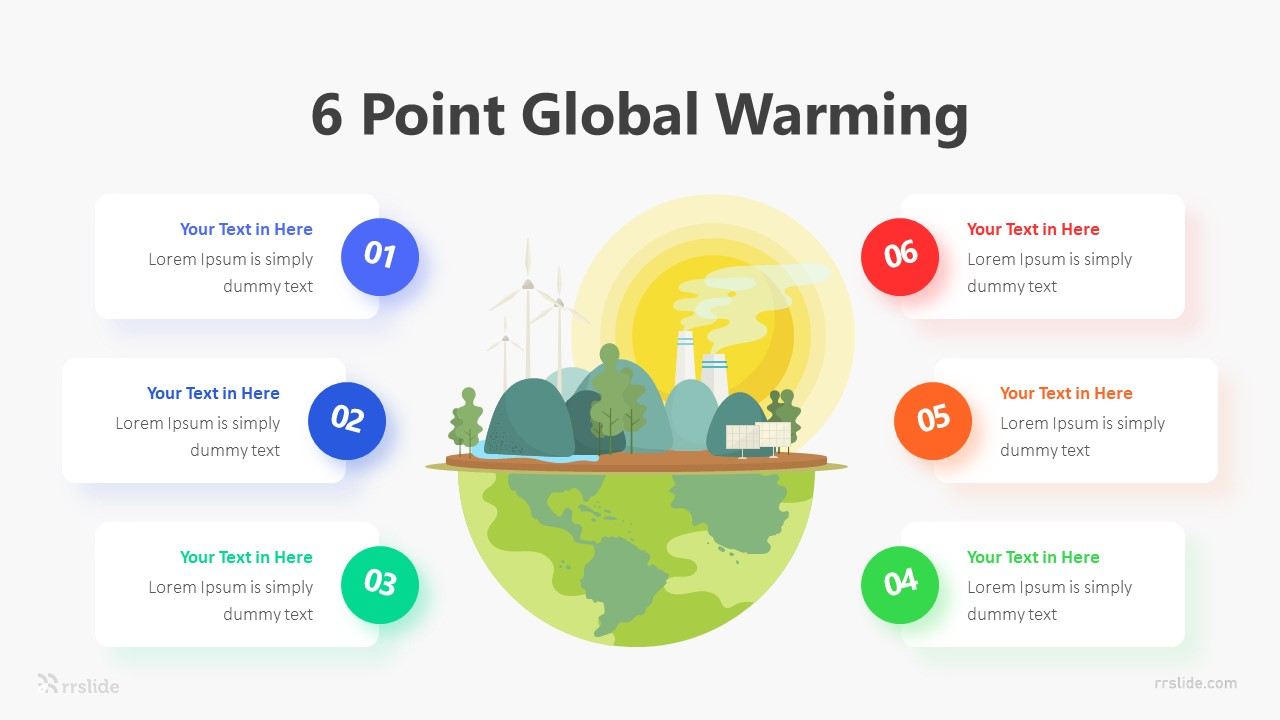 6 Point Global Warming Infographic Template