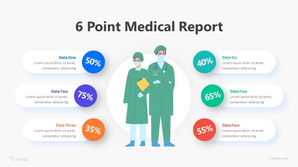 6 Point Medical Report Infographic Template