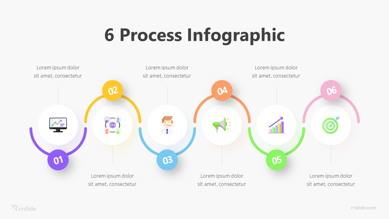 6 Process Infographic Template