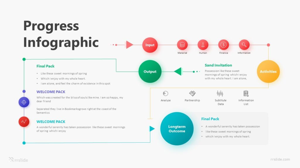 6 Progress Infographic Template