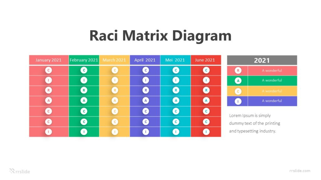 6 Raci Matrix Diagram Infographic Template