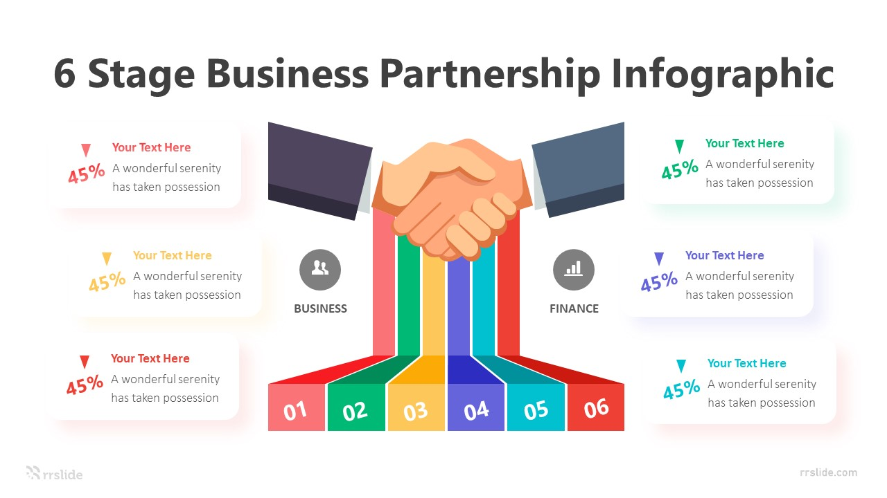 6 Stage Business Partnership Infographic Template