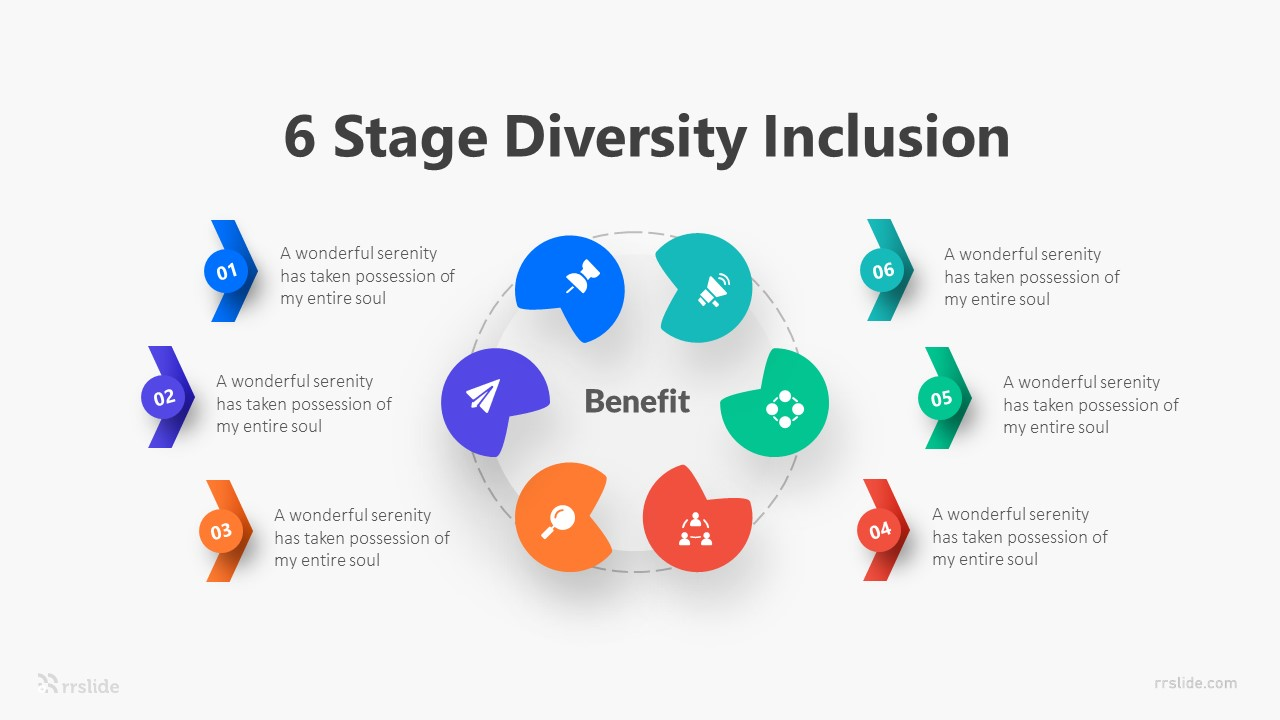 6 Stage Diversity Inclusion Infographic Template