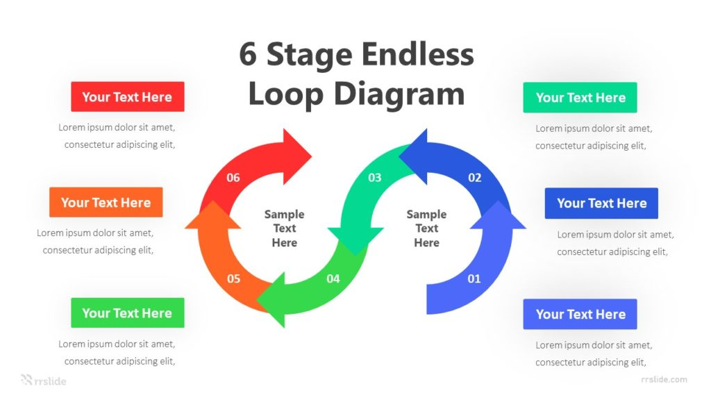 6 Stage Endless Loop Diagram Infographic Template