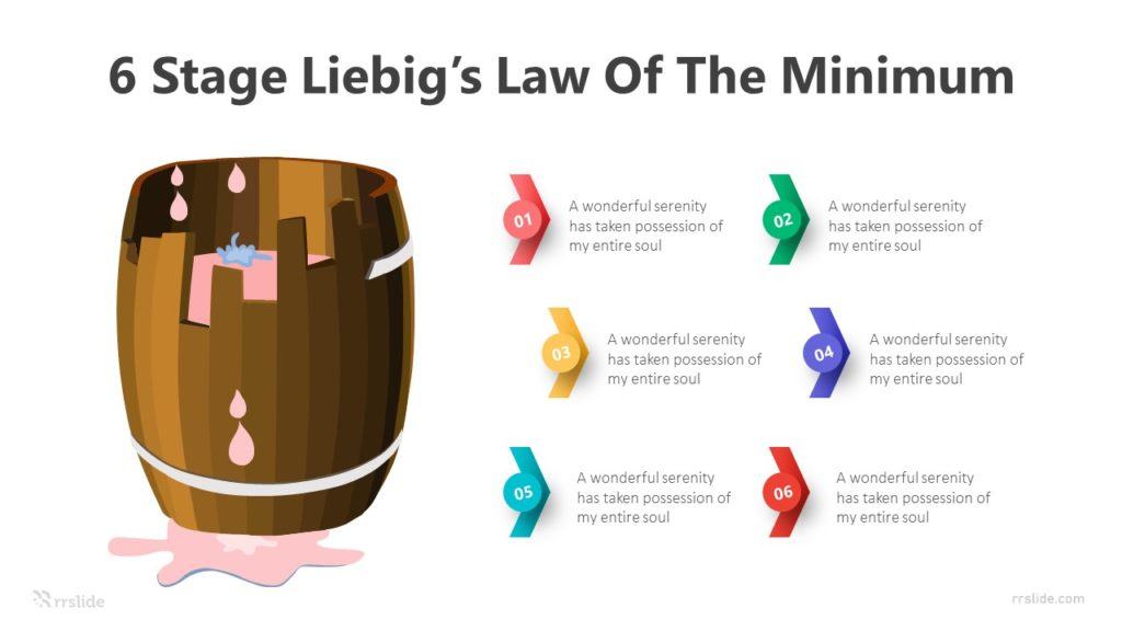 6 Stage Liebig's Law Of The Minimum Infographic Template