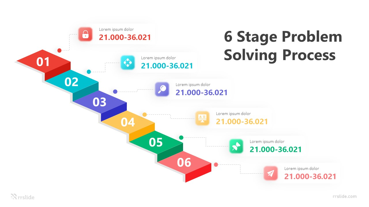 6 Stage Problem Solving Process Infographic Template