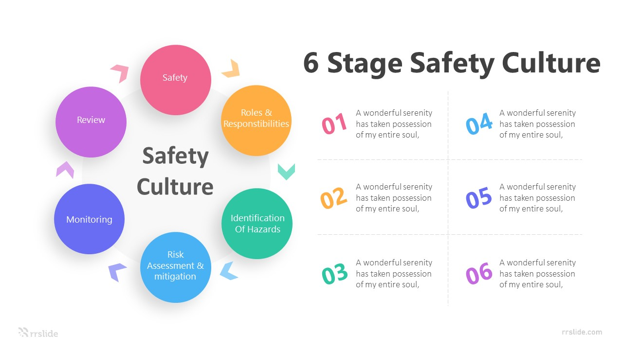 6 Stage Safety Culture Infographic Template