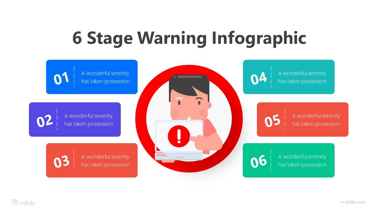 6 Stage Warning Infographic Template