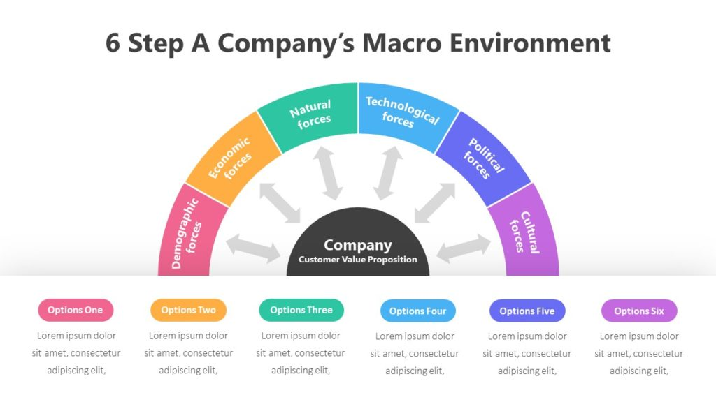 6 Step A Company's Macro Environmen Infographic Template