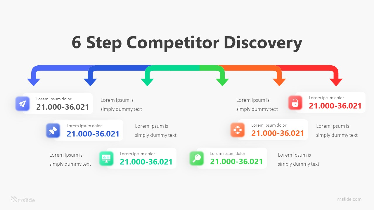 6 Step Competitor Discovery Infographic Template
