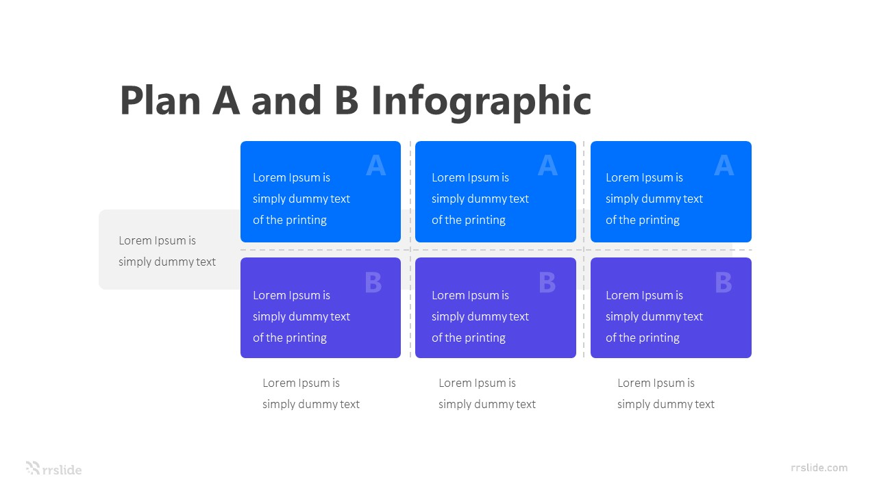 6 Step Plan A and B Infographic Template