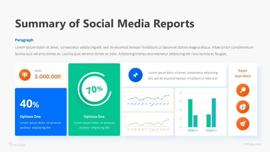 6 Step Summary Of Social Media Reports Infographic Template