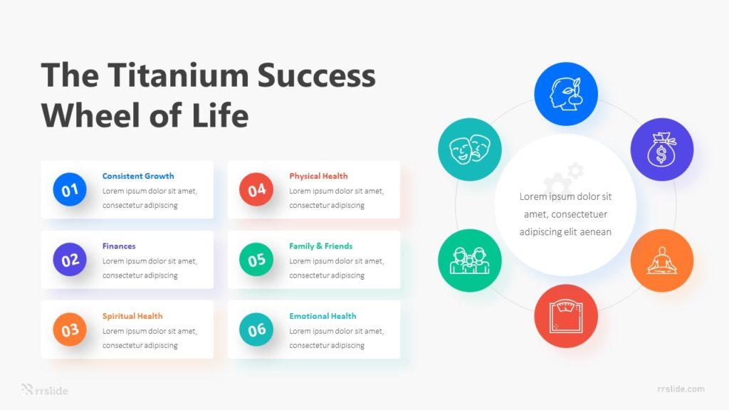 6 The Titanium Success Wheel Of Life Infographic Template