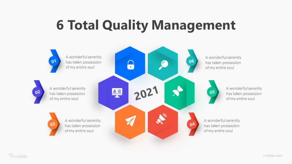 6 Total Quality Management Infographic Template