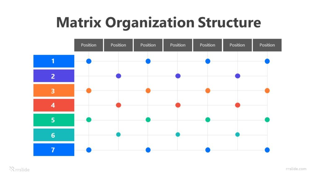 7 Matrix Organization Structure Infographic Template