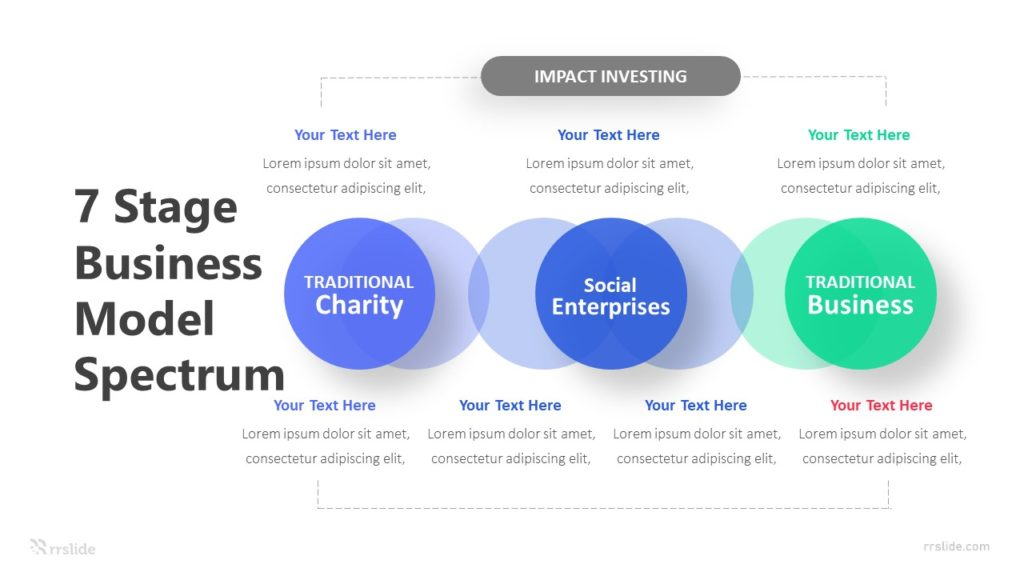 7 Stage Business Model Spectrum Infographic Template