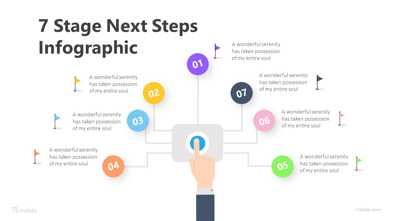 7 Stage Next Steps Infographic Template