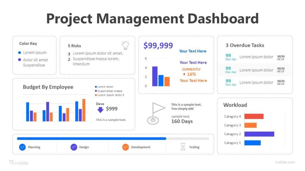 7 Stage Project Management Dashboard Infographic Template