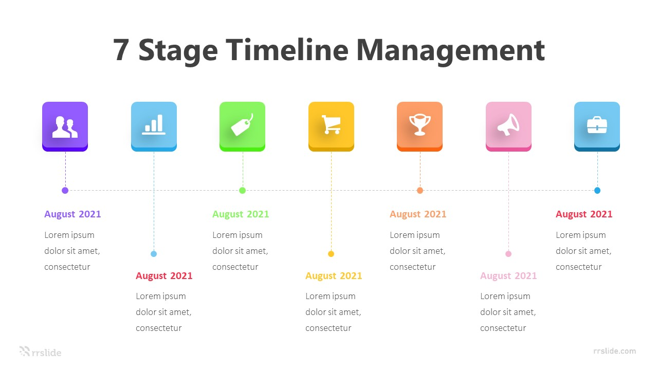 7 Stage Timeline Management Infographic Template