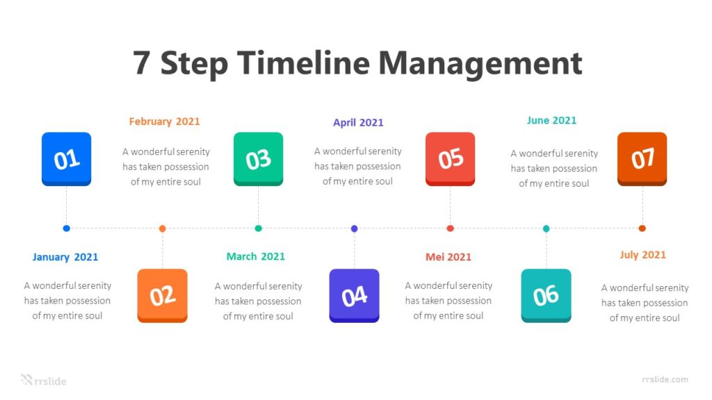 7 Step Timeline Management Infographic Template