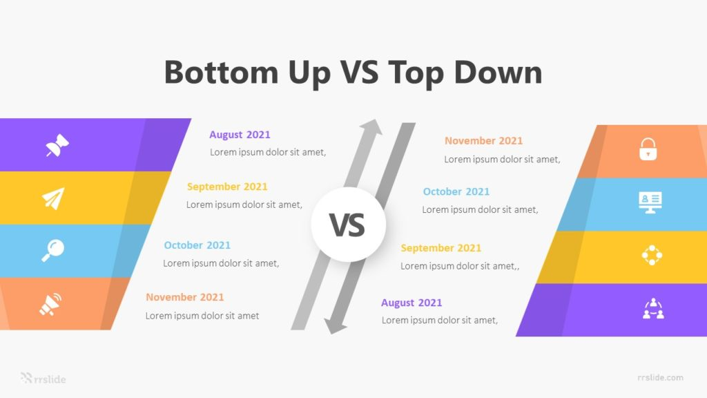 8 Bottom Up VS Top Down Infographic Template