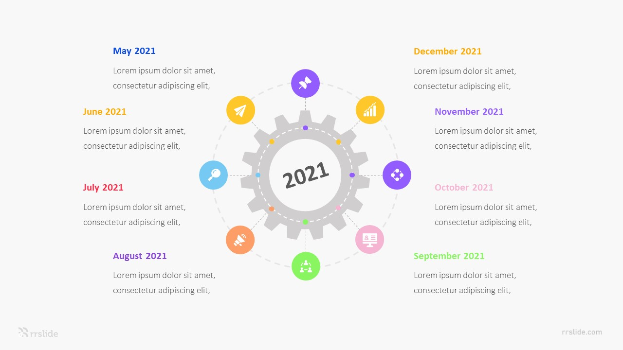 8 Circle Round Infographic Template