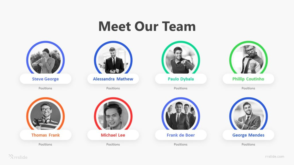 8 Meet Our Team Infographic Template