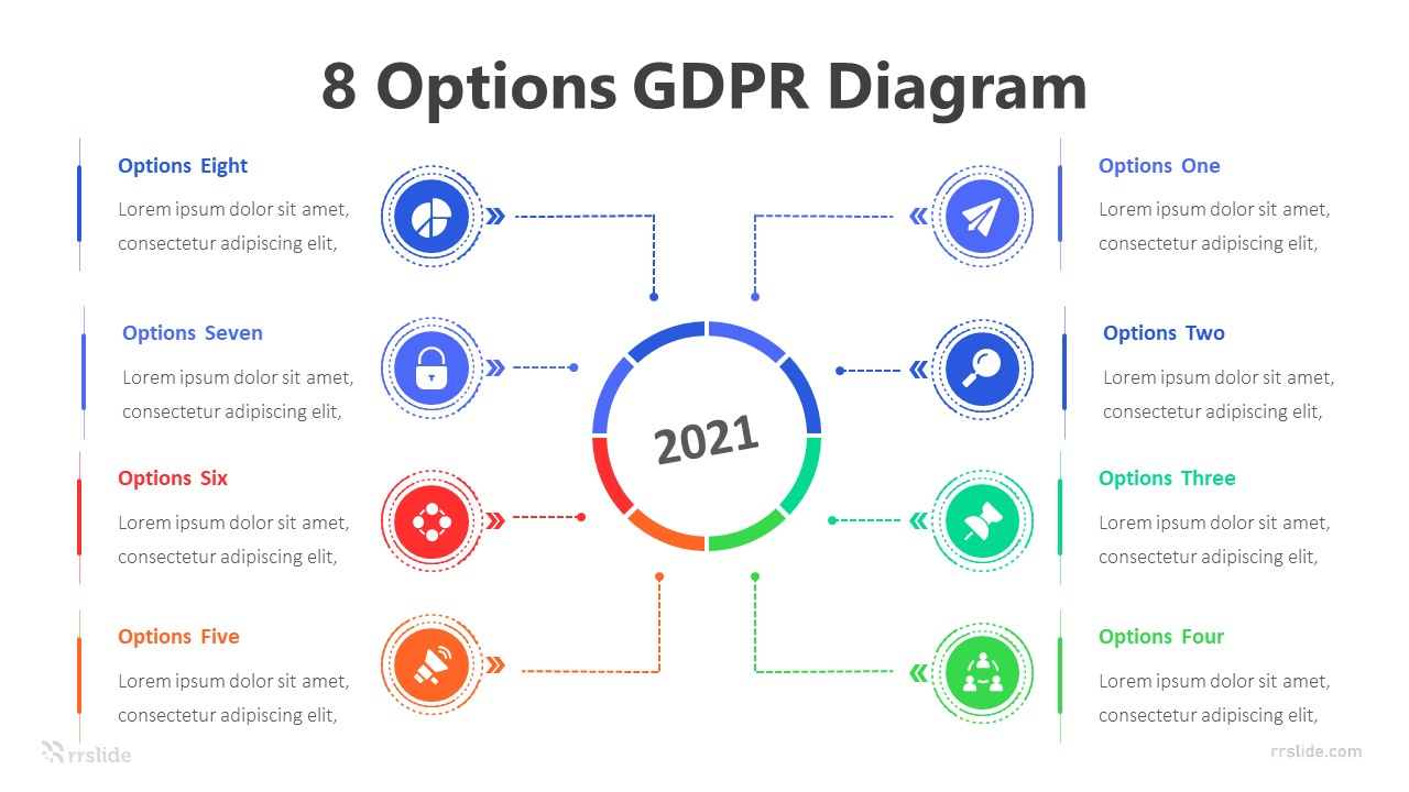 8 Options GDPR Diagram Infographic Template