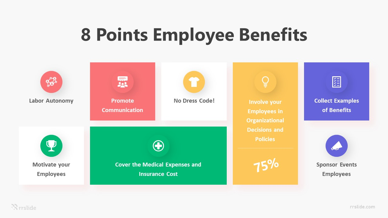 8 Points Employee Benefits Infographic Template
