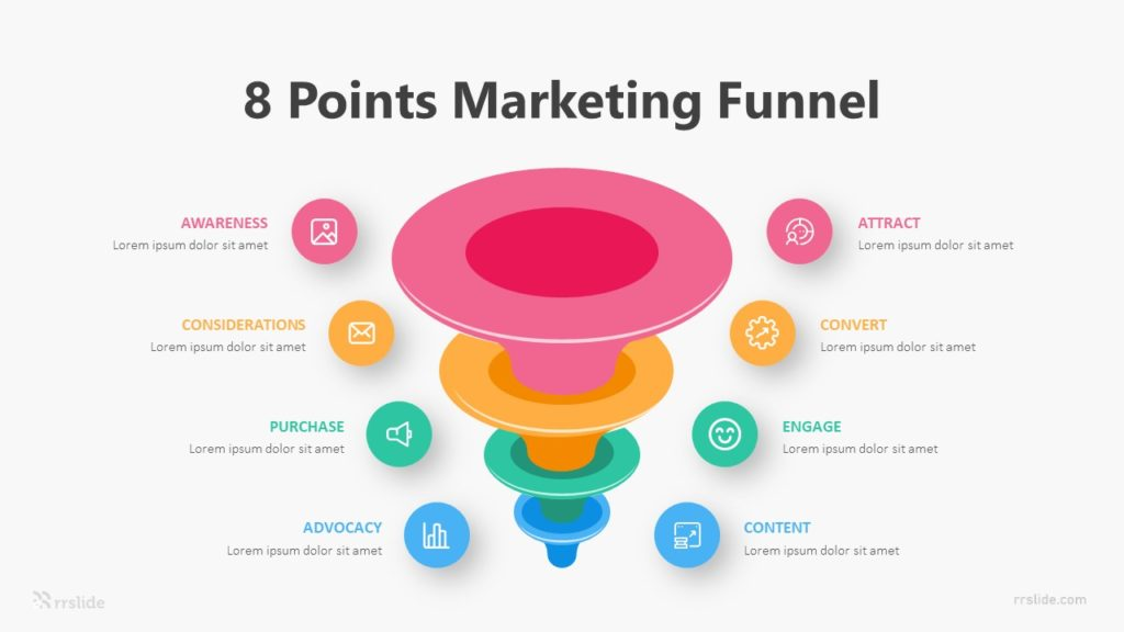 8 Points Marketing Funnel Infographic Template