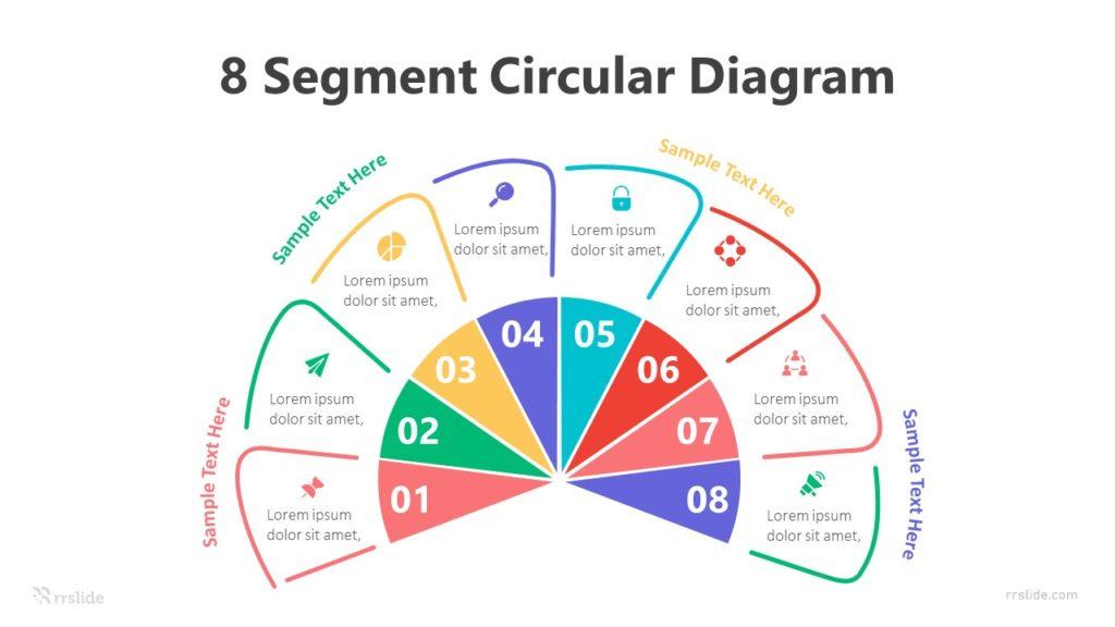 8 Segment Circular Diagram Infographic Template