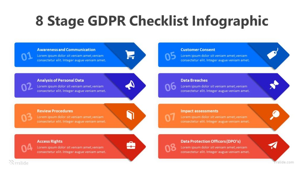 8 Stage GDPR Checklist Infographic Template
