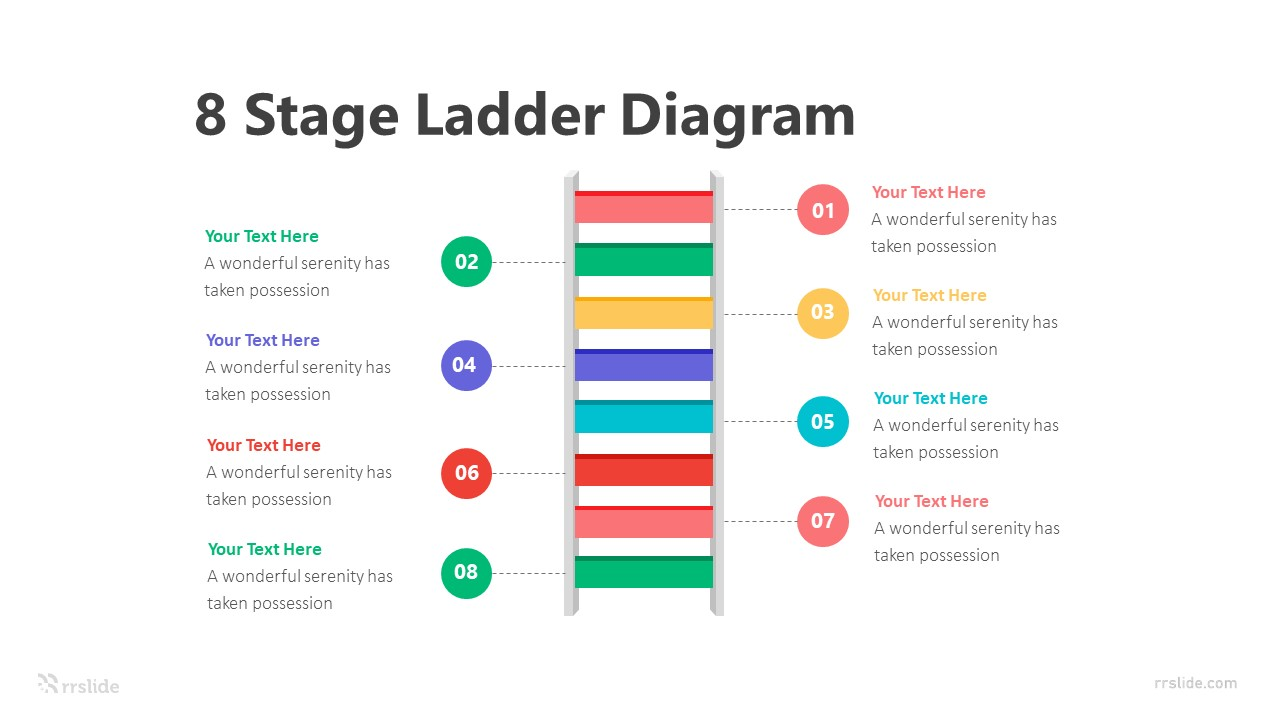 8 Stage Ladder Diagram Infographic Template