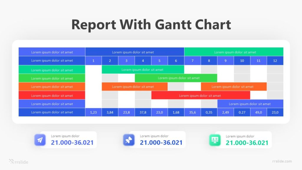8 Stage Report With Gantt Chart Infographic Template