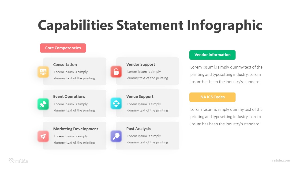 8 Step Capabilities Statement Diagram Infographic Template